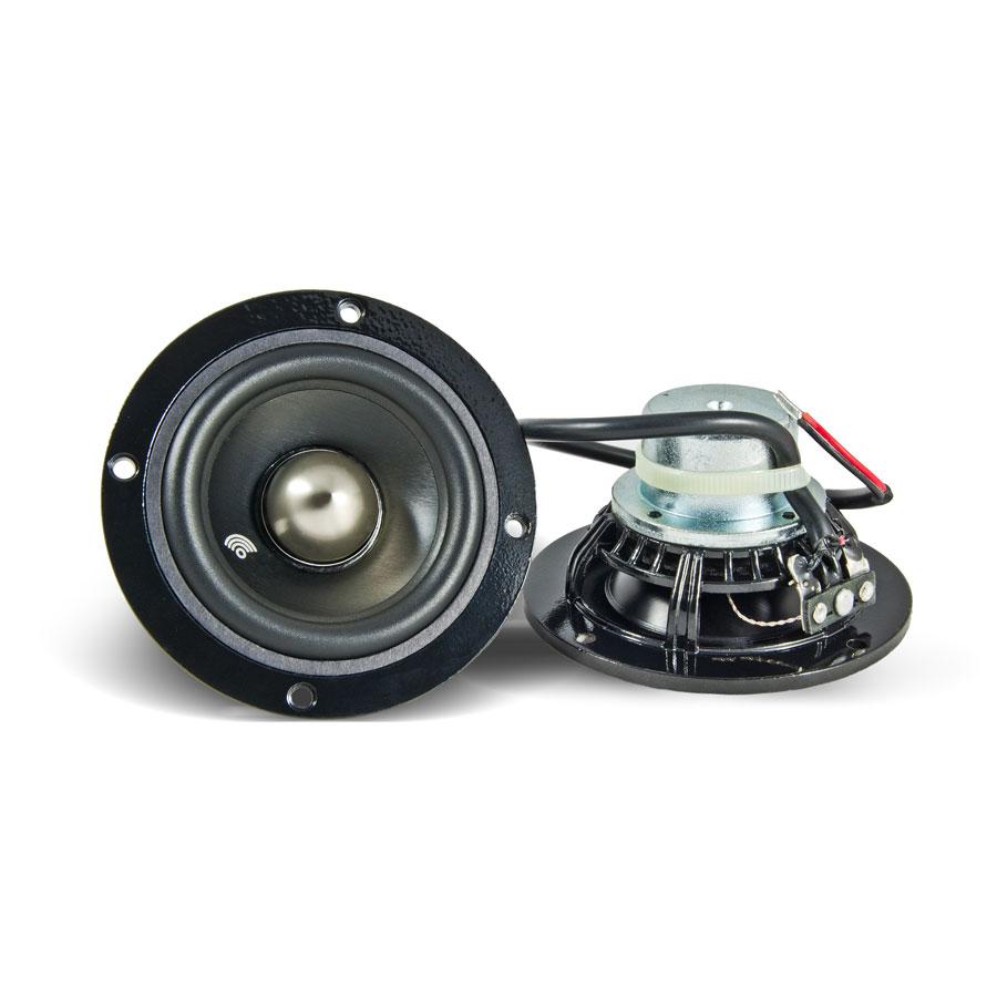 Replay Audio Master RM30-4PP Perspektive Front- und Rückseite mit Kabel